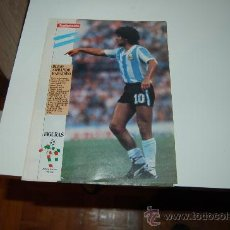 Coleccionismo deportivo: SELECCIÓN DE FÚTBOL DE ARGENTINA: MINI PÓSTER-FICHA DE DIEGO ARMANDO MARADONA. 1990. Lote 21453359