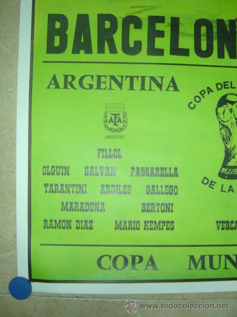Coleccionismo deportivo: AÑO 1982 - CARTEL FUTBOL MUNDIAL ESPAÑA 82 - ARGENTINA-BELGICA - EN EL NOU CAMP DE BARCELONA - Foto 3 - 119006062