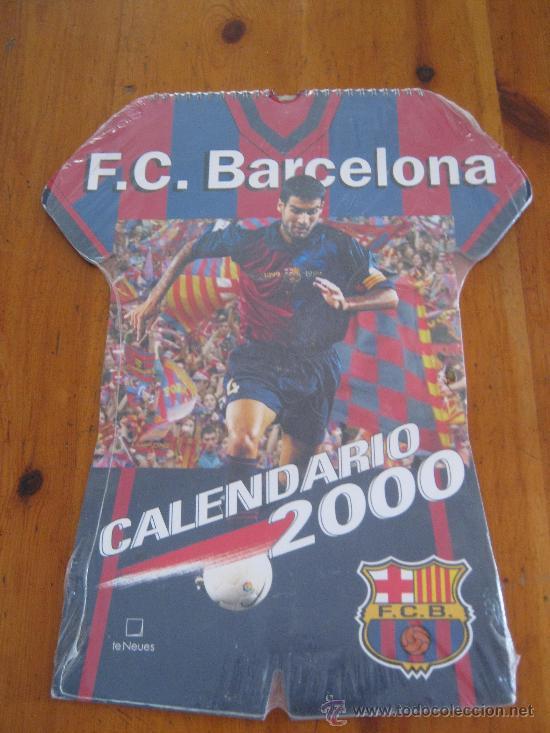GUARDIOLA EN EL CALENDARIO F.C. BARCELONA 2000 / FORMATO MAYOR TIPO CAMISETA (Coleccionismo Deportivo - Carteles de Fútbol)