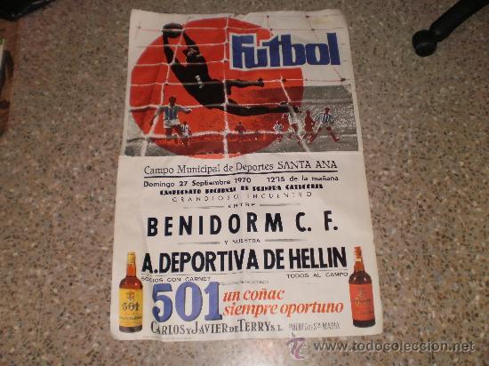 LOTE DE 7 CARTELES DE FUTBOL DEL AÑO 1970 ( GRAN FORMATO ) . DIFERENTES ENCUENTROS Y FECHAS . (Coleccionismo Deportivo - Carteles de Fútbol)