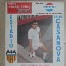 Coleccionismo deportivo: CARTEL LIGA 1ª DIVISION - VALENCIA C.F. - ATLETICO MADRID, REAL ZARAGOZA - AÑO 1970. Lote 22642548