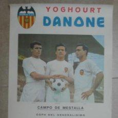 Coleccionismo deportivo: CARTEL COPA DEL GENERALISIMO - VALENCIA C.F. - CD. TENERIFE, MESTALLA - R. VALLADOLID - AÑO 1963. Lote 22642746