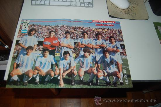 SELECCIÓN DE FÚTBOL DE ARGENTINA: PÓSTER PREVIO AL MUNDIAL DE ITALIA DE 1990 (Coleccionismo Deportivo - Carteles de Fútbol)
