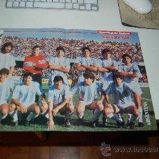 Coleccionismo deportivo: SELECCIÓN DE FÚTBOL DE ARGENTINA: PÓSTER PREVIO AL MUNDIAL DE ITALIA DE 1990. Lote 26762580
