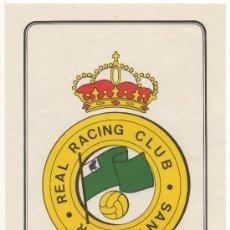 Coleccionismo deportivo: LAMINA POSTER RACING DE SANTANDER COLECCION SUPER ADHESIVOS FUTBOL EX. SALCAS ALMENDRALEJO BADAJOZ. Lote 244973015