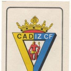 Coleccionismo deportivo: LAMINA POSTER DEL CADIZ CF DE LA COLECCION SUPER ADHESIVOS FUTBOL EXCLUSIVAS SALCAS ALMENDRALEJO. Lote 23438869