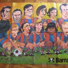 Coleccionismo deportivo - Barça 1973 - 1974. Poster aparecido en Revista Barrabas. 99 x 68 cms. Dibujado pon Gin. - 23680993