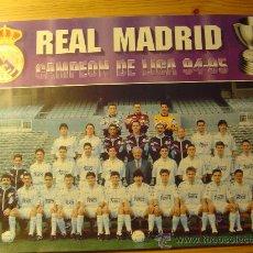 Coleccionismo deportivo: POSTER REAL MADRID CAMPEÓN DE LIGA 94-95. 33X24 CM APROX.. Lote 26443018