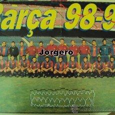 Coleccionismo deportivo: F.C. BARCELONA PLANTILLA 1998-1999 CAMPEÓN DE LIGA. PÓSTER. Lote 24301387