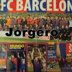 Coleccionismo deportivo: F.C. BARCELONA 2003-2004 RONALDINHO. PÓSTER. Lote 24723584