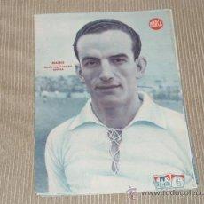 Coleccionismo deportivo: MATEO (SEVILLA F C) - LÁMINA DEL DIARIO MARCA. AÑOS 40. 25 X 35 CM. ORIGINAL . Lote 27600622