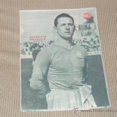 Coleccionismo deportivo: QUEREJETA (REAL MADRID) - LÁMINA DEL DIARIO MARCA. AÑOS 40. 25 X 35 CM. ORIGINAL . Lote 27600624