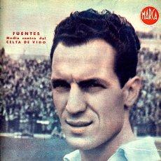 Coleccionismo deportivo: CARTEL FUTBOL ,LAMINA MARCA ORIGINAL , FUENTES CELTA VIGO , MA418. Lote 26181006