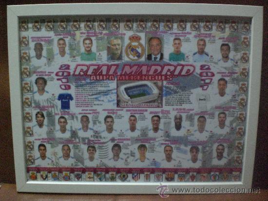 CUADRO POSTER REAL MADRID PLANTILLA 2010 2011 CAMPEON COPA REY 2011 (Coleccionismo Deportivo - Carteles de Fútbol)