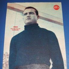 Coleccionismo deportivo: CARTEL LAMINA POSTER DEL C.D. CASTELLON JUGADOR PEREZ MARCA FUTBOL. Lote 26825196