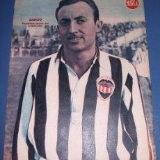 Coleccionismo deportivo: CARTEL LAMINA POSTER DEL C.D. CASTELLON JUGADOR BASILIO MARCA FUTBOL. Lote 26825266