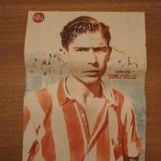Coleccionismo deportivo: CARTEL DE FUTBOL MARCA. FUTBOLISTA ADROVER EXTREMO DERECHA DEL ATLETICO AVIACION. Lote 27864250