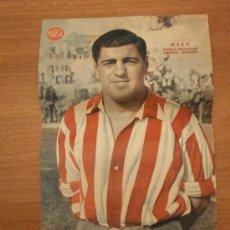 Coleccionismo deportivo: CARTEL DE FUTBOL MARCA. FUTBOLISTA MESA DEFENSA DERECHA DEL ATLETICO AVIACION. Lote 27864300