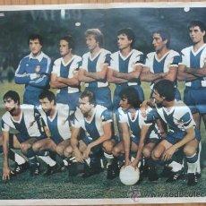 Sammelleidenschaft Sport - RCD Español. Poster años 70. Reverso con firmas impresas. RCD Espanyol de Barcelona. - 28490291