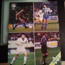 Coleccionismo deportivo: POSTER LIGA 95/96 CON GUARDIOLA,FRAN,HIERRO Y ZUBIZARRETA. Lote 28662006