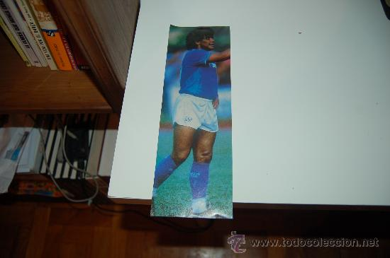 NÁPOLES: RECORTE DE DIEGO ARMANDO MARADONA. 1986 (Coleccionismo Deportivo - Carteles de Fútbol)