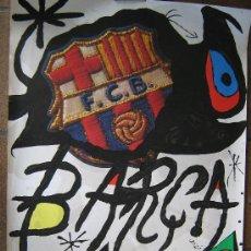 Coleccionismo deportivo: CARTEL POSTER 75 ANIVERSARIO BARÇA F.C FC BARCELONA MIRO ORIGINAL AÑO 1974 FUTBOL CLUB 99 X 69 CENT. Lote 29911463