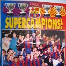 Coleccionismo deportivo: CARTEL POSTER FC BARCELONA BARÇA CAMPEON DE LIGA . Lote 29525426