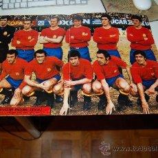 Coleccionismo deportivo: SELECCIÓN ESPAÑOLA DE FÚTBOL: PÓSTER DE 1973 ( GRECIA 2-ESPAÑA 3 ). Lote 29643621