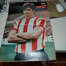 Coleccionismo deportivo: ATHLETIC DE BILBAO: PÓSTER DE ROJO I. 1973. Lote 29643658
