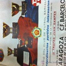 Coleccionismo deportivo: DANONE---IV TROFEO JUAN GAMPER. Lote 30066446