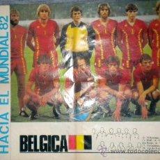 Coleccionismo deportivo: POSTER SELECCION BELGICA SOCCER AFFICHE MUNDIAL ESPAÑA WORLD CUP 1982. Lote 30311083