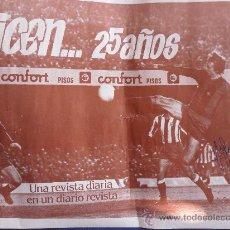 Coleccionismo deportivo: POSTER CARTEL JOHAN CRUYFF FIRMADO POR EL JUGADOR FUTBOL CLUB F.C BARCELONA FC BARÇA CF VER FOTOS. Lote 30586057