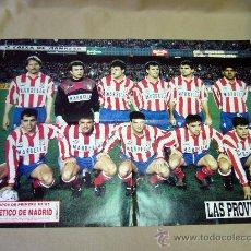 Coleccionismo deportivo: CARTEL O POSTER, FUTBOL, ATLETICO DE MADRID, 92- 93, SUPLEMENTO LAS PROVINCIAS, CAMARASA VALENCIA. Lote 31379114