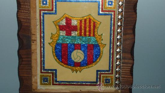 Coleccionismo deportivo: Antiguo plafon del Futbol Club Barcelona. barça. FCB. - Foto 2 - 31406057