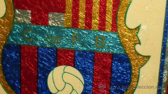 Coleccionismo deportivo: Antiguo plafon del Futbol Club Barcelona. barça. FCB. - Foto 3 - 31406057