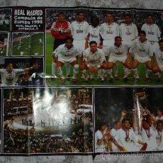 Coleccionismo deportivo: REAL MADRID CAMPEON DE EUROPA 1998 - POSTER DE LA REVISTA HOLA. Lote 31404671
