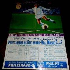 Coleccionismo deportivo: ANTIGUO CARTEL DEL ESTADIO DE FUTBOL SANTIAGO BERNABEU DE MADRID. PARTIDO IPROTTABANDALAG KEFLAVIKUR. Lote 31557637