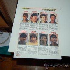 Coleccionismo deportivo: SELECCIÓN DE FÚTBOL DE BRASIL: PÁGINA A DOBLE CARA, CON IMÁGENES DE JUGADORES SELECCIONADOS. 1990. Lote 31574535