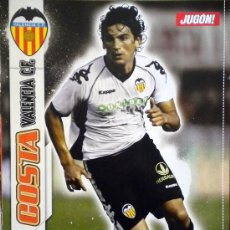 Coleccionismo deportivo: POSTER TINO COSTA VALENCIA C.F. QUINCY MALAGA C.F.. Lote 31577528