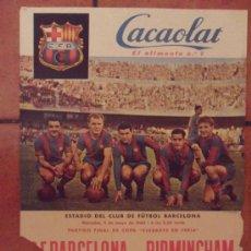 Coleccionismo deportivo - poster cartel cacaolat futbol club f.c barcelona fc barça cf 61X43 cent 1960 final copa kubala etc - 31621419