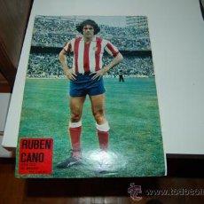 Coleccionismo deportivo: ATLÉTICO DE MADRID: PÓSTER DE RUBÉN CANO. TEMPORADA 77-78. Lote 31665651