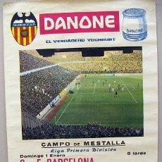 Coleccionismo deportivo: CARTEL ORIGINAL CAMPO DE MESTALLA 1ª DIVISION AÑO 1966 . Lote 31703112