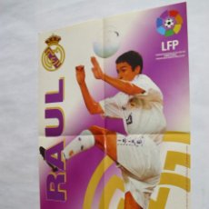 Coleccionismo deportivo: POSTER CHICLES VIDAL TEMPORADA 1996-1997 - RAUL (REAL MADRID). Lote 31885259