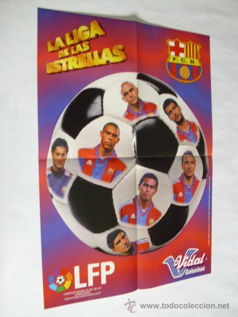 POSTER CHICLES VIDAL TEMPORADA 1996-1997 - BARCELONA (Coleccionismo Deportivo - Carteles de Fútbol)
