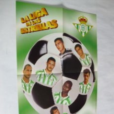 Coleccionismo deportivo: POSTER CHICLES VIDAL TEMPORADA 1996-1997 - BETIS. Lote 31885310