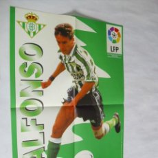 Coleccionismo deportivo: POSTER CHICLES VIDAL TEMPORADA 1996-1997 - ALFONSO (BETIS). Lote 31885322