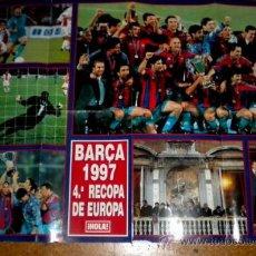 Coleccionismo deportivo: POSTER BARÇA 4ª RECOPA DE EUROPA 1.997 DE LA REVISTA HOLA GRAN FORMATO ( DOBLADO ORIGINAL REVISTA ). Lote 32136478