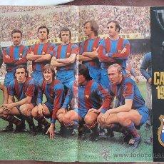 Coleccionismo deportivo - poster cartel de futbol club f.c barcelona fc barça cf presentacio barça 1973 - 74 ver fotos - 32480639