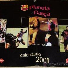 Coleccionismo deportivo: - FUTBOL CLUB BARCELONA CALENDARIO 2.001 DE PARED 34/24 CM. ¡¡¡ MIRALO ¡¡¡. Lote 32703663