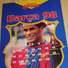 Coleccionismo deportivo: - FUTBOL CLUB BARCELONA CALENDARIO 1.998 CON 9 POSTER ¡¡¡ MIRALO ¡¡¡. Lote 32704214
